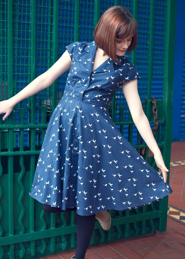 The bird print Ava dress #1950s #vintage #style #Dublin #street