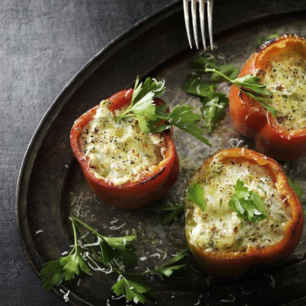 Fyldte ovnbagte peberfrugter