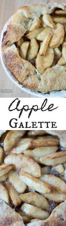 This Apple Galette r This Apple Galette recipe is sweet crisp...  This Apple Galette r This Apple Galette recipe is sweet crisp and perfect for Fall. Enjoy a slice with a scoop of vanilla ice cream! (6-8 servings) Recipe : http://ift.tt/1hGiZgA And @ItsNutella  http://ift.tt/2v8iUYW