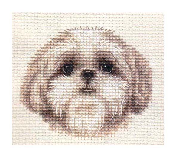 SHIH TZU puppy, dog ~ Full counted cross stitch kit