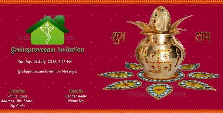 Editable Housewarming Invitation Template Indian 4 In 2021 House Warming Invitations Housewarming Invitation Templates Invitation Printing House warming indian style
