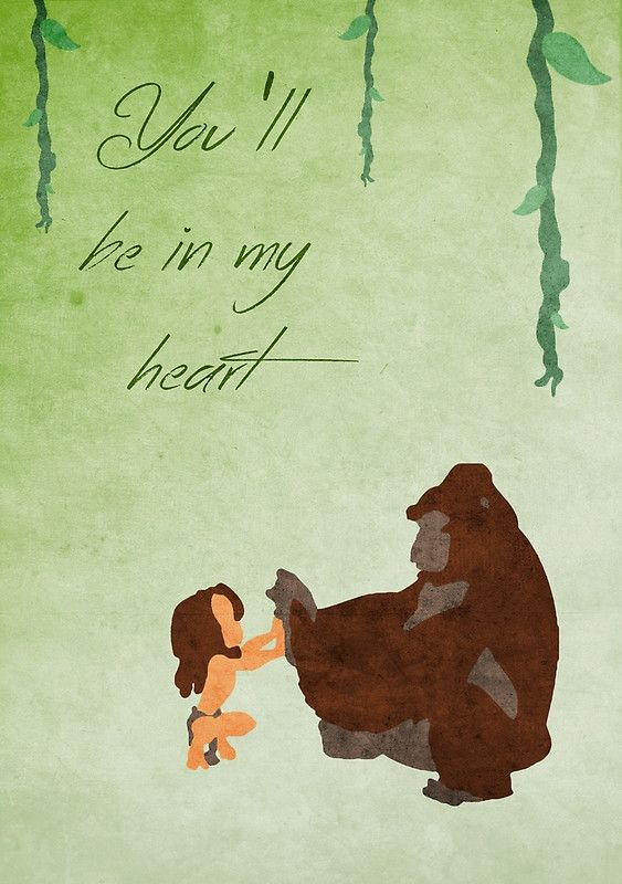Tarzan inspired Mother's Day design.
