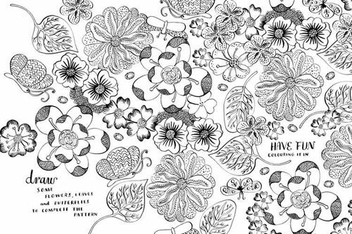 1000 Images About Flower Coloring On Pinterest
