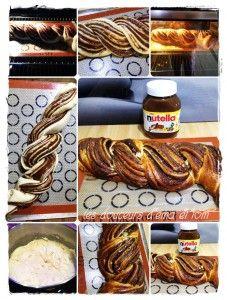 Torsade briochée au Nutella