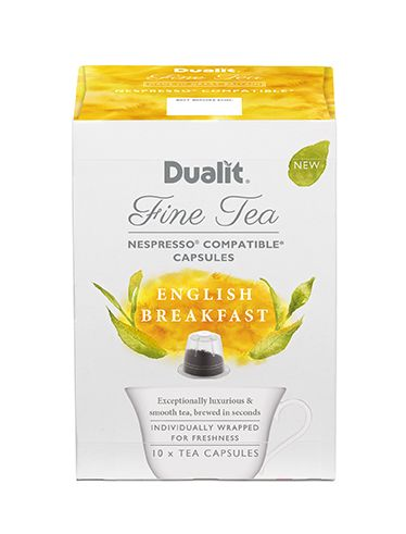 Dualit NX Fine Tea Capsule – English Breakfast  Exceptionally Luxurious & Smooth  Hand plucked unique blend from the highlands alongside the East African Rift Valley. Awaken your senses with its bright golden colour and sunshine taste.