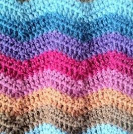 Point de chevron au crochet : explications - TUTO gratuit