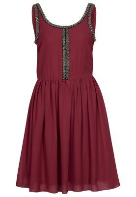 cocktailkleid festliches kleid bordeaux kleid bordeaux cocktailkleid ...