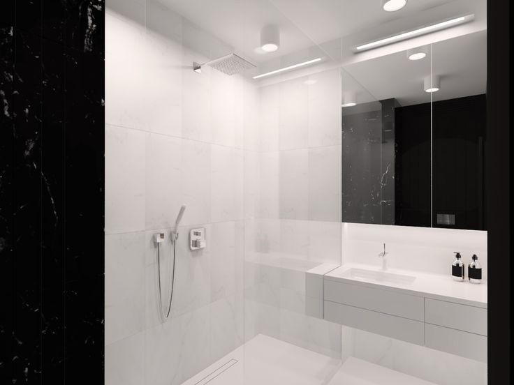 Bathroom design 5,02m2 Apartment 64m2 Warsaw, Poland www.artandarchitecture.pl