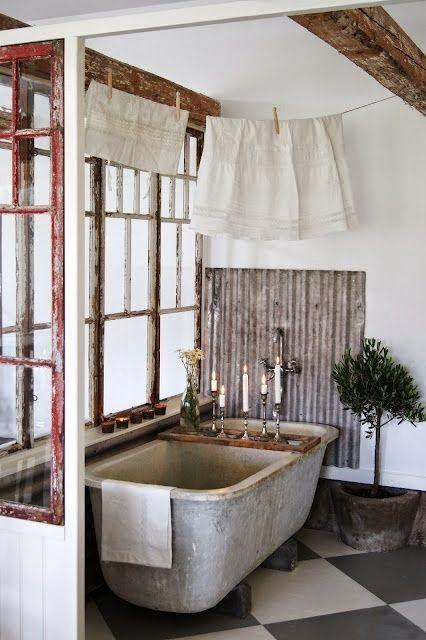 16 best brocante blog badkamers images on pinterest room live and vintage bathrooms - Vintage badkamer ...