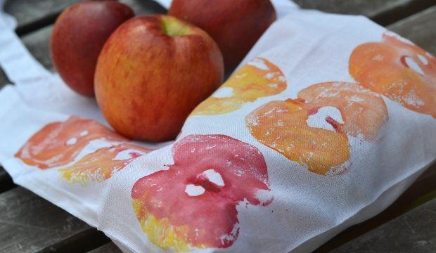 ..... vyrobím jablečný potisk na látku