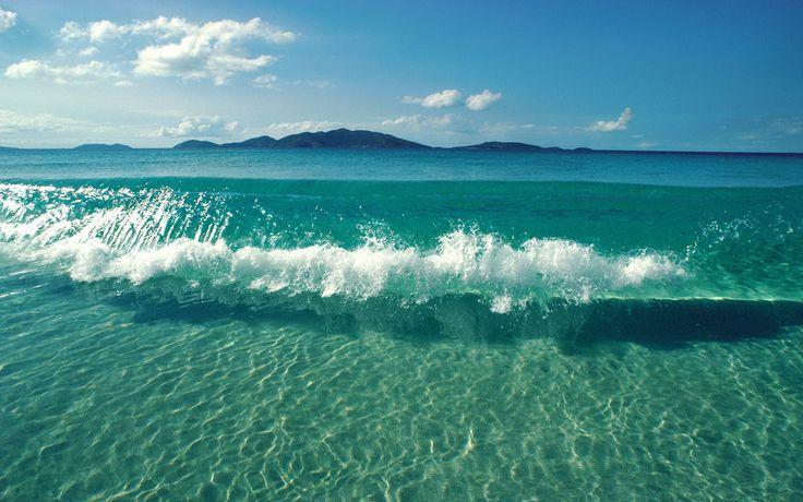 Sea.... just sea.....Crystals, Clear Water, Blue, The Ocean, Ocean Waves, Sea, The Bahamas, Beach, The Waves