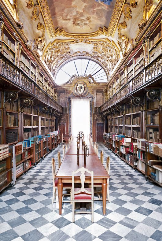 Medici Library in Florence. Biblioteca Riccardiana.Palazzo Medici Riccardi - Via Ginori, Firenze by Massimo Listri.