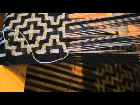 Selvedge Technique for Deflected Double Weave - YouTube