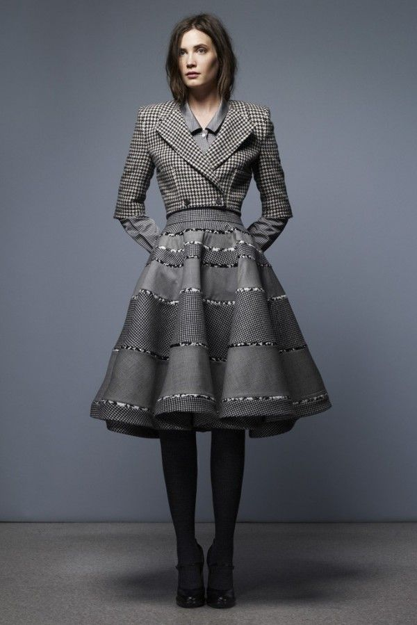 Designer TAILORED BLAZER FOR WOMEN FALL 2013 | Thom Browne Pre-Fall-Winter 2013-2014  I LOVE THE BLAZER PAIRED WITH THIS FLOUNCY SKIRT.  SKIRT SUIT TREND