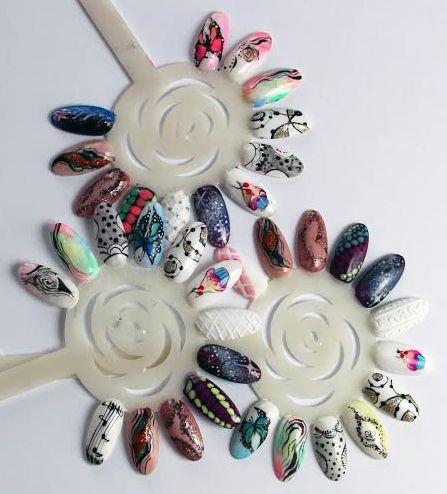 szkolenie ze zdobnictwa :) #nails #nailsart