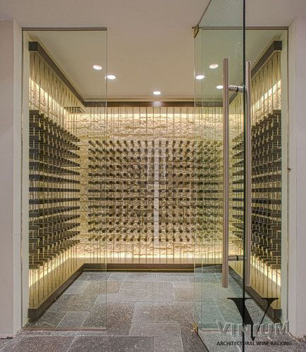 Contemporary Wine Cellar vinium series would need back lighting for effect