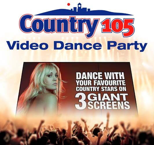 Country 105 FM - Video Dance Party - 12 in a row Country