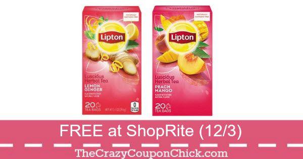 Score FREE Box of Lipton Herbal Tea at ShopRite (12/3)