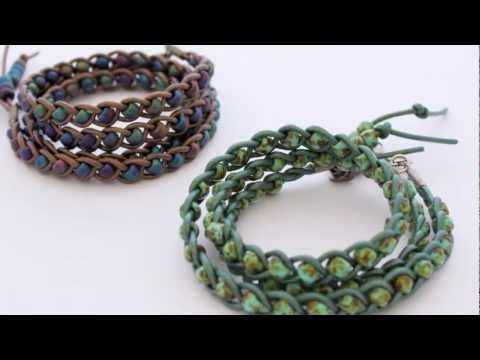 How To Make a Braided Leather Wrap Bracelet #Beading #Jewelry #Tutorials