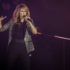 Celine Dion performs live in concert at the Pierre Mauroy Stadium in Lille