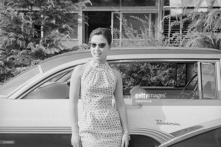 Japanese film actress Ayako Wakao owns a 1957 Ford car.