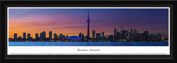 Toronto Skyline Panoramic Picture Framed Canada