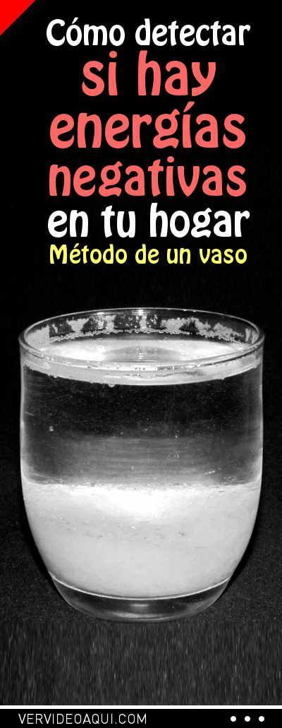 Cómo detectar si hay energías negativas en tu hogar (método de un vaso) #vaso #vasodeagua #energía #hogar #curiosidades
