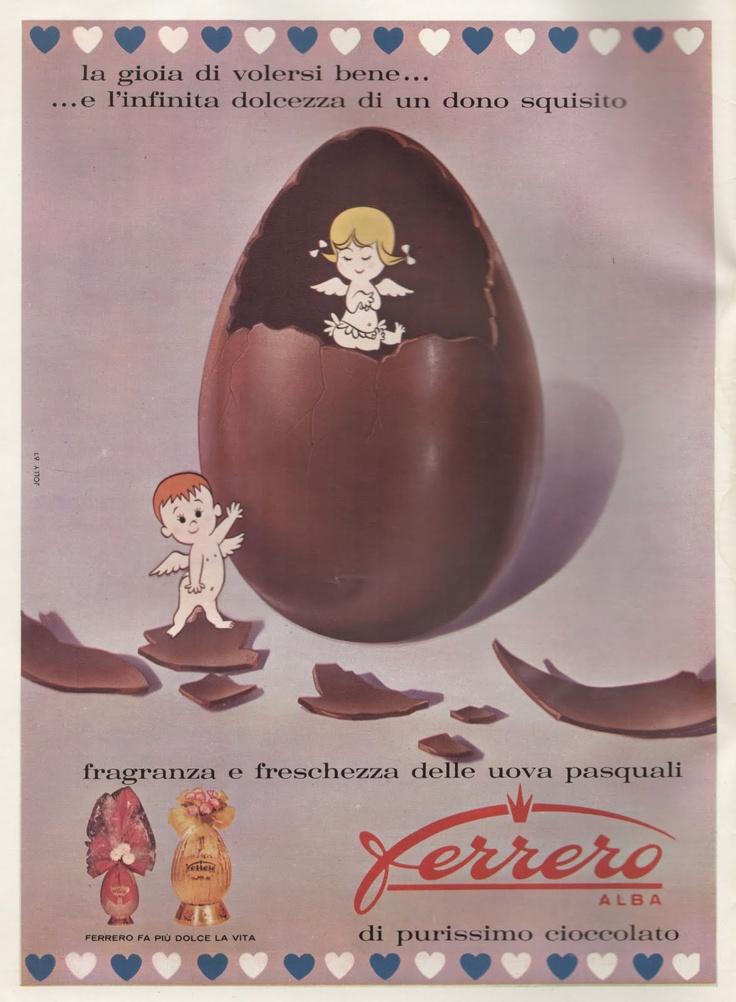 """Vintage Italian Posters ~ GENERAZIONI e """"PICK-UP"""": (1961) pubblicità - FERRERO"""