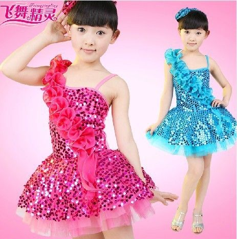 Fast shipping Child costume female child paillette modern dance tulle dress children dance performance wear #Affiliate