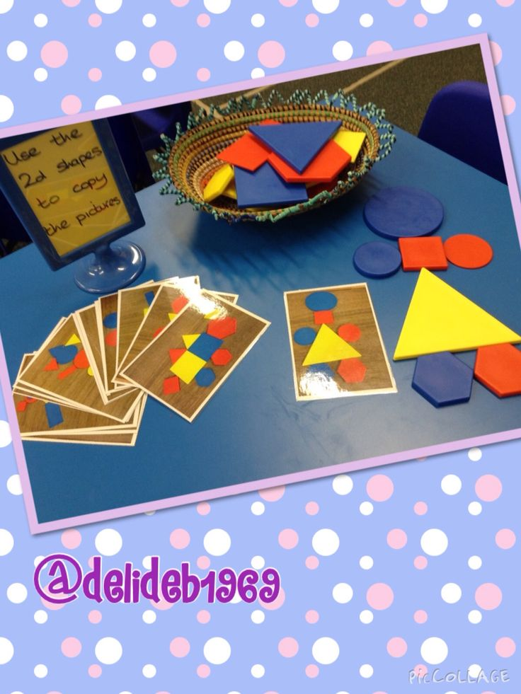 Get children to copy photos which I took using shapes I have in my class. I'm thinking about using idea with real objects, construction etc. Iwanted children to copy pictures made from 2d shapes but needed them to look exactly the same so I just made my own. I'm then going to have a camera available and ask the children to make their own pictures and take a photo and I will then print those for the children to copy. This will add a technology strand and make a nice display.