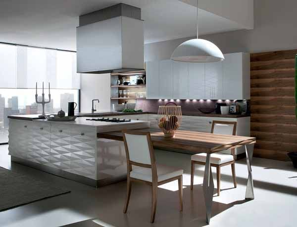 contemporary kitchen peninsulas | ... kitchen island and cabinets panel designs are modern kitchen design
