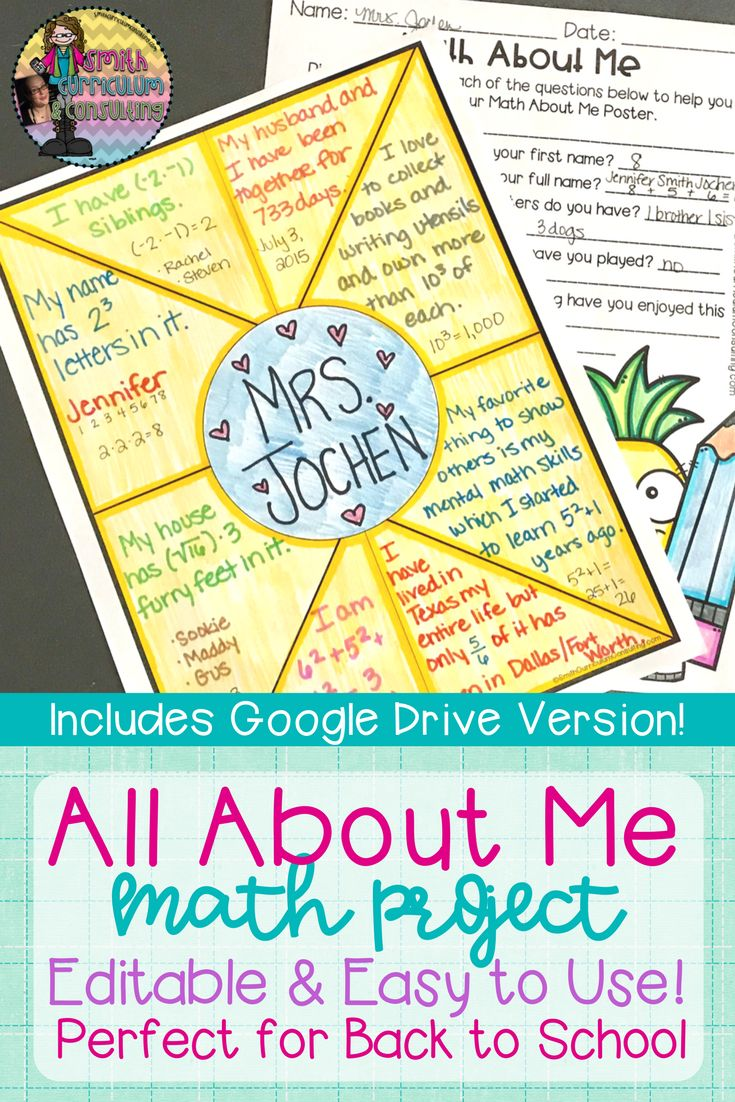 Uncategorized Math.about.com Worksheets the 25 best math about me ideas on pinterest gcse maths online all project for back to school includes google drive and editable