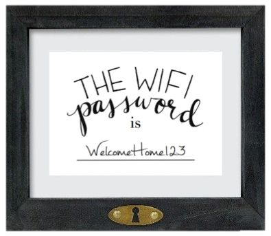 "FREE DOWNLOAD - ""The Wifi Password is..."" Art Print! Printable art, hand lettered, wifi password, guest room"