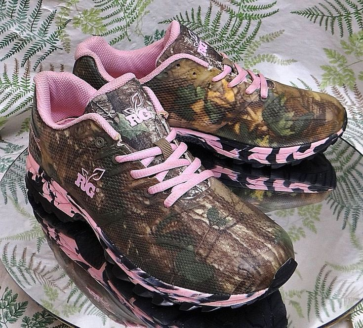 REALTREE GIRL CAMO SNEAKERS WALKING TRAIL HIKING SHOES BOOTS US WOMENS SZ 9.5 M #Realtree #Walking