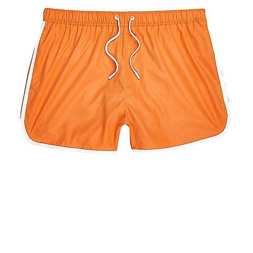 Orange short swim shorts - swim shorts - shorts - men