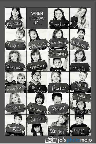 Great Start of Year activity - When I grow up, I want to be .. Photograph ..