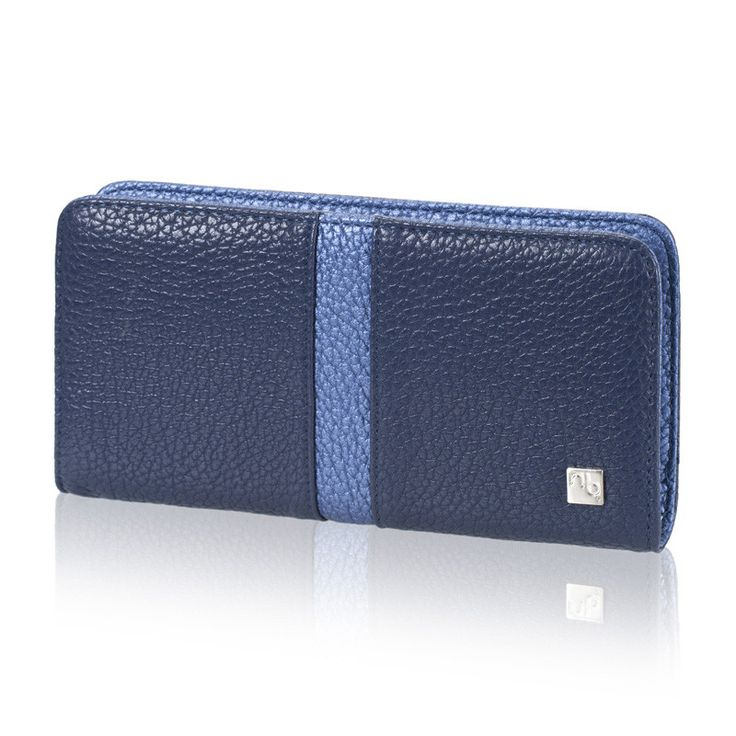 A classy navy and cobalt (vegan) non-leather wallet is a great way to carry around some Blue Jays spirit with you!