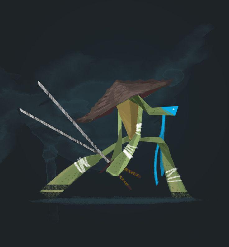 TMNT #leonardo #characterdesign #illustration #childrenillustration #tmnt #turtle #redesign #ninja