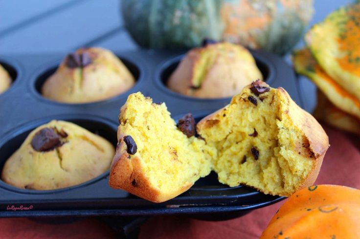 Muffin di kamut e zucca al cioccolato piccante