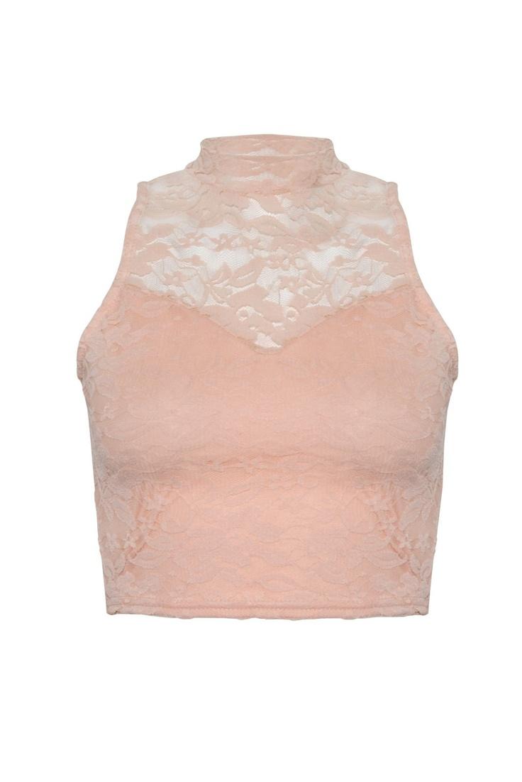 #lace #pastel #croptop #rarelondon