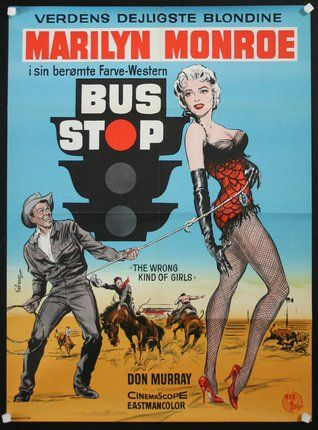 Bus Stop | Danish Movie Poster, 1956.