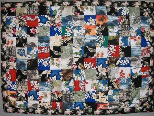 20 best Hawaiian shirt quilts images on Pinterest   Bed linen ... : hawaiian shirt quilt pattern - Adamdwight.com