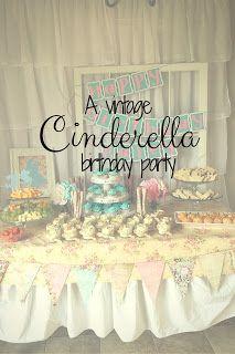 Vintage Cinderella 2nd Birthday party.