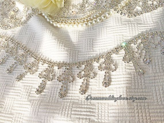 Hey, I found this really awesome Etsy listing at https://www.etsy.com/listing/250108103/high-quality-cross-rhinestone-trim12yard