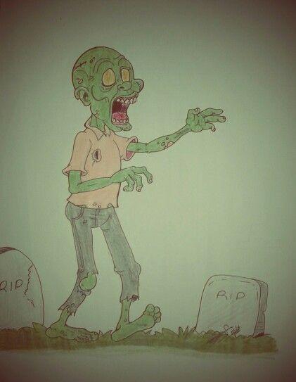 Zombie Walking by Kio
