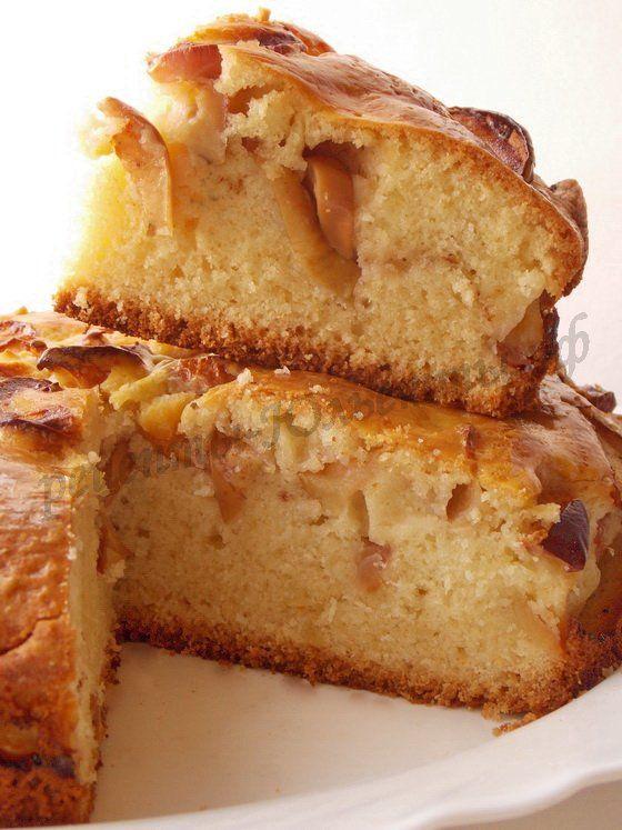 пышный яблочный пирог простой рецепт