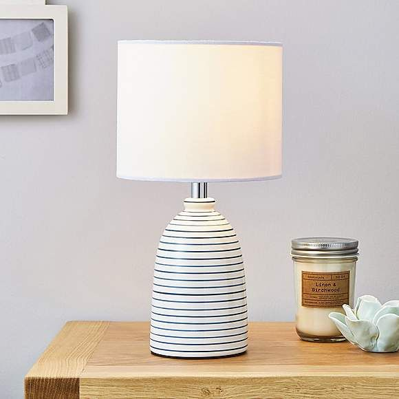 White wooden table lamp The White