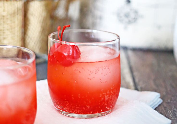 Cherry Bomb Mocktail - Only 3 Ingredients to a Easy, Fun Flirty Drink Loaded with Bubbles and Cherry!
