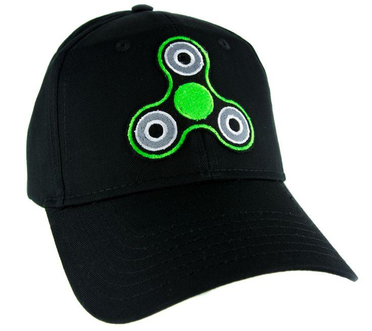Green Fidget Spinner Hat Baseball Cap Alternative Clothing Stress Relieving Toy