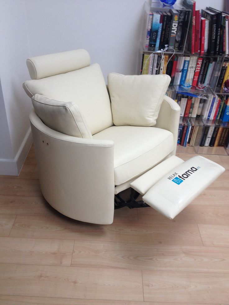 Marvelous White Leather. Cool And Stylish Designer Chair That Just Happens To Rock,  Swivel And